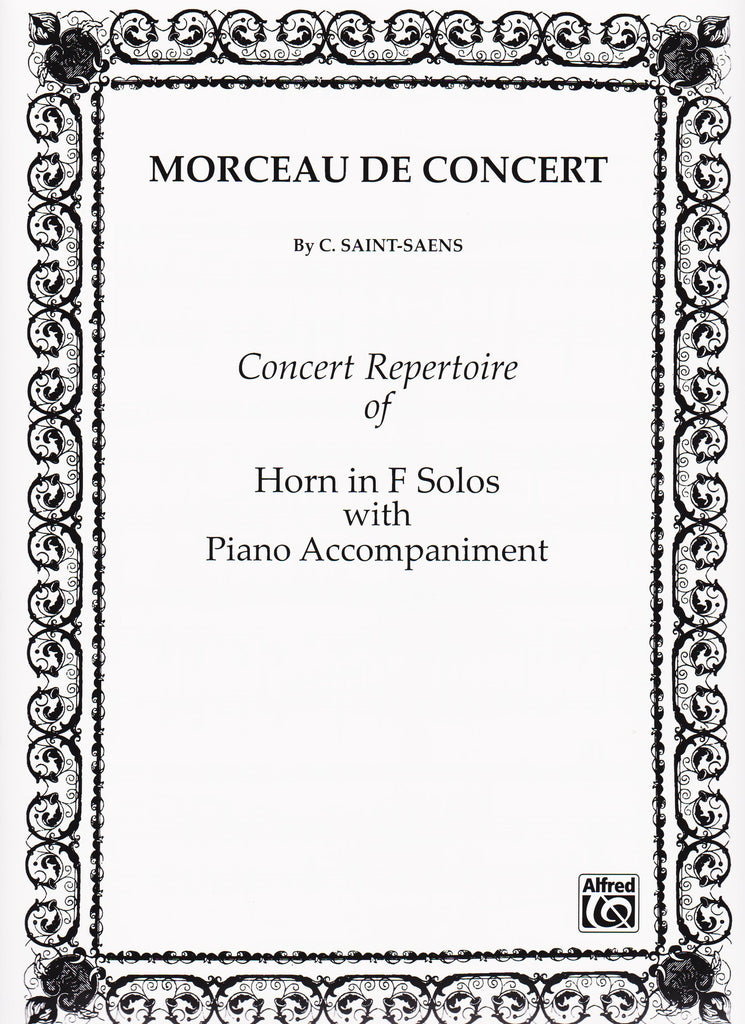 Morceau de Concert Op. 94 for Horn and Piano by Camille Saint-Saens, pub. Alfred