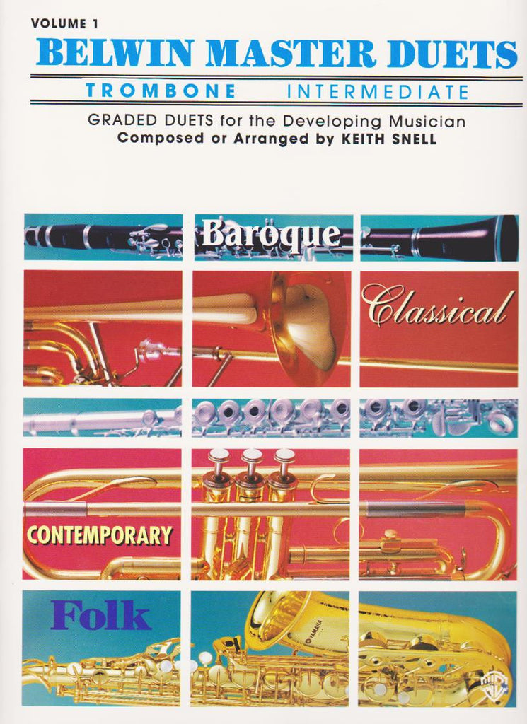 Belwin Master Duets for Trombone in 3 Volumes by Keith Snell, pub. Belwin-Mills