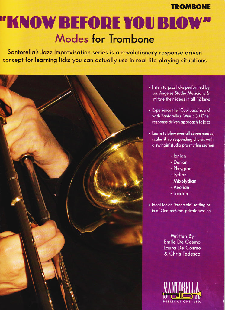 Know Before You Blow Modes for Trombone by Chris Tedesco, pub. Santorella