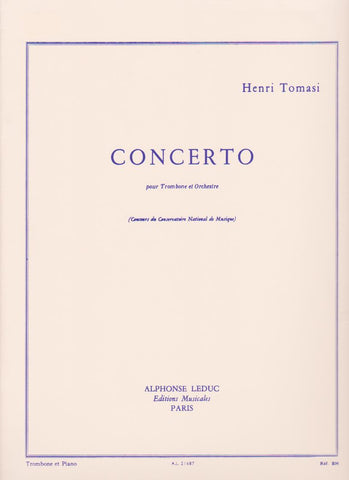 Concerto for Trombone and Piano by Henri Tomasi, pub. Leduc Hal Leonard
