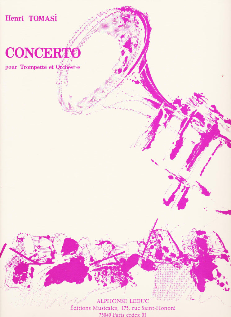 Concerto For Trumpet and Piano by Henri Tomasi, pub. Leduc