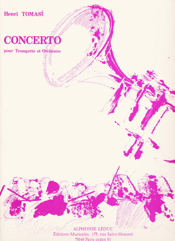 Concerto For Trumpet and Piano by Henri Tomasi, pub. Leduc Hal Leonard