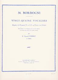 Vingt-Quatre Vocalises for Trumpet by Marco Bordogni, pub. Leduc Hal Leonard