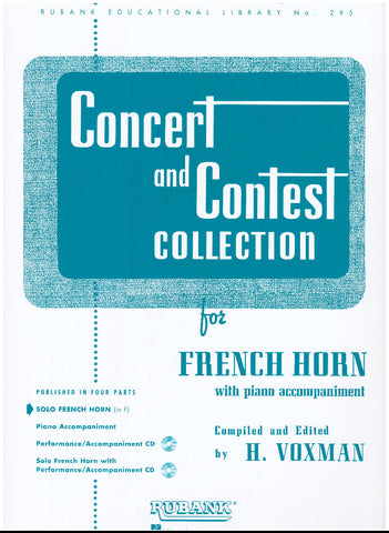 Concert and Contest Collection for French Horn (Solo Part), ed. Voxman, pub. Hal-Leonard