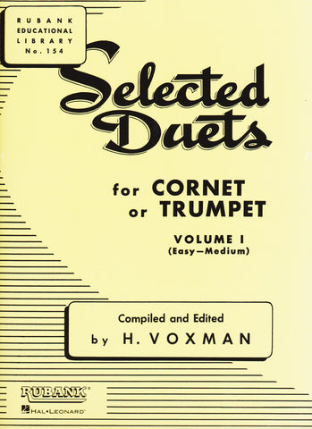 Selected Duets for Trumpet Book 1 (Easy-Medium) by H. Voxman, pub. Hal-Leonard
