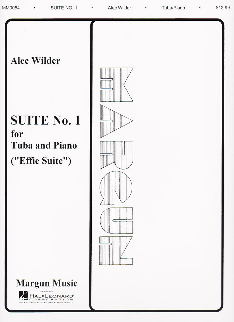 Suite No. 1 (Effie) for Tuba  and Piano by Alec Wilder, pub. Hal Leonard