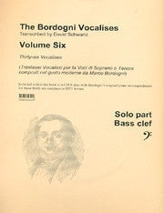 The Bordogni Vocalises Vol. 6 in Bass Clef, prep. & pub. David A. Schwartz