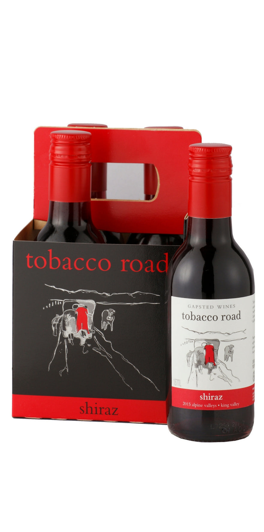 Tobacco Road 2015 Shiraz - 4 x 187ml - Gapsted Wines