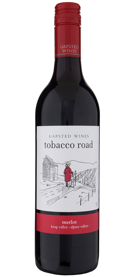 Tobacco Road 2019 Merlot - Gapsted Wines
