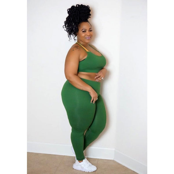IN THE MIX GREEN SPORTS LEGGINGS