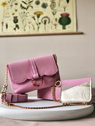 Belt Bag & Cardholder in Pink