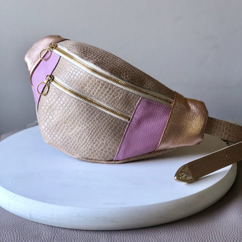 Magnolia ~ Fanny Pack ~ Nude, Rose Gold & Pink