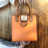 Dahlia ~ Crossbody Satchel ~ Orange