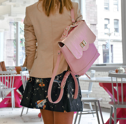 Protea ~ Convertible Bag: Backpack to Crossbody ~ Pink