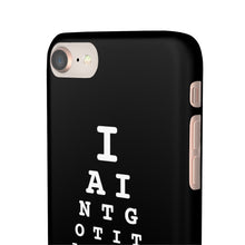 "Load image into Gallery viewer, ""VISION TEST"" PHONE CASE - BLACK"