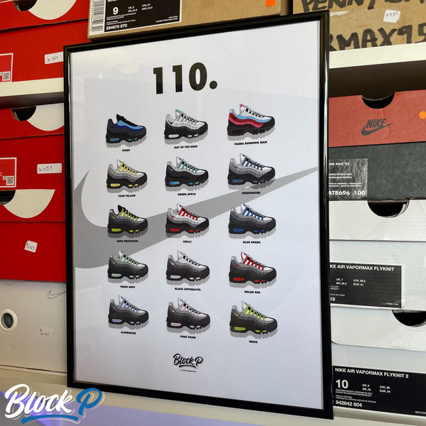 Air Max 95 110 Collection A3 Print