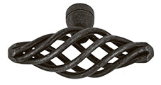 french provincial open weave knob oval