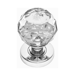 polished glass door knobs & cabinet furniture
