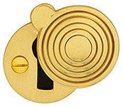 3001 covered reeded round bit key escutcheon