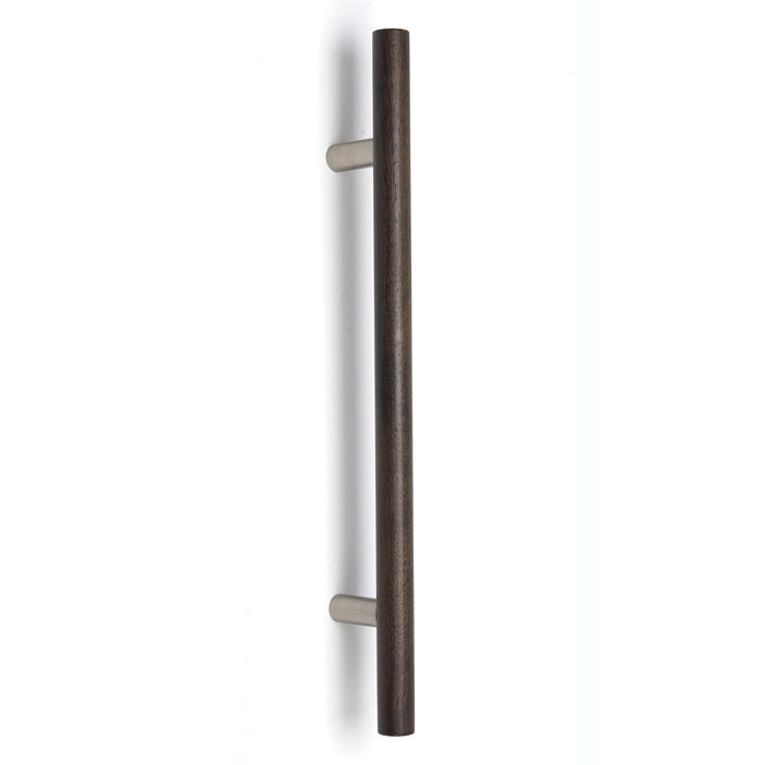 KK44 round section timber pull handle on round bracket