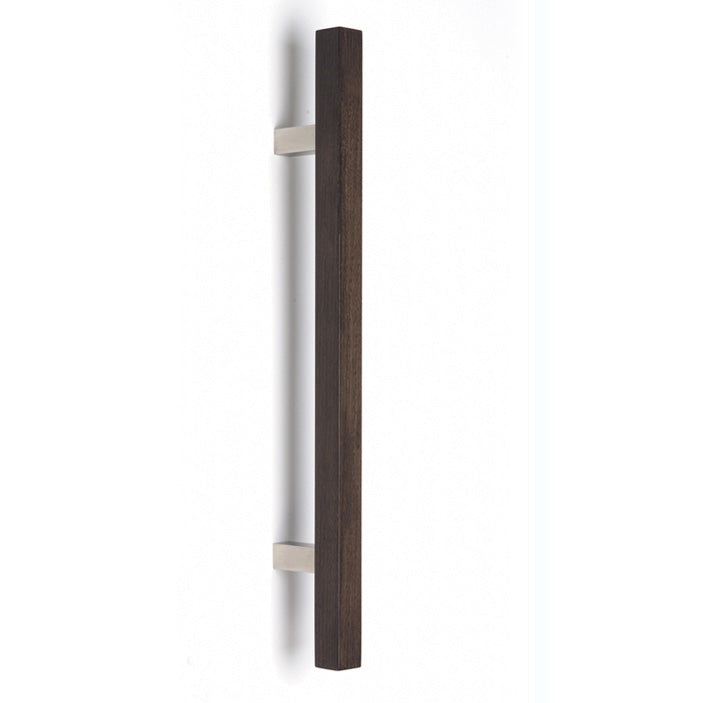 KK48 square section timber pull handle on square section bracket