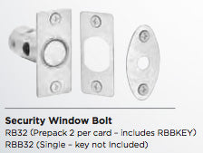 RB32/RB60 window bolt