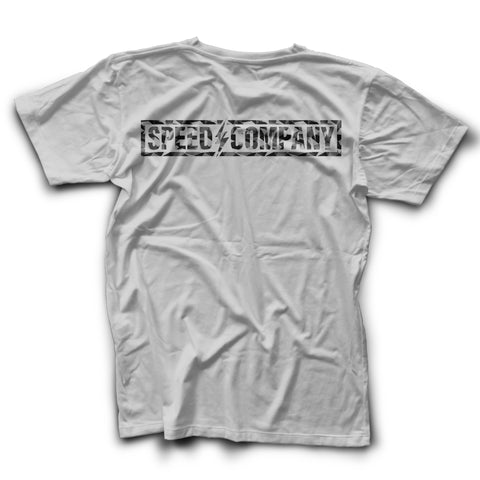 BLOWOUT! Digital Grease White Tee