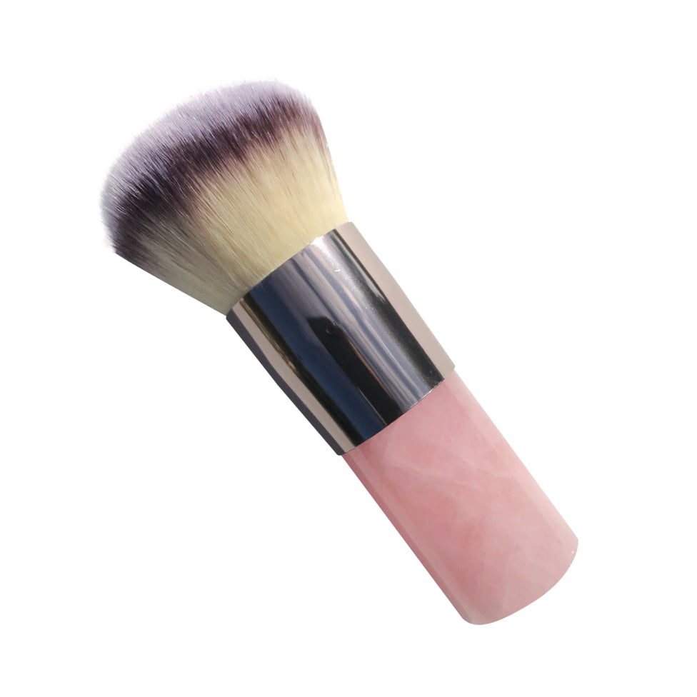 Rose quartz kabuki brush