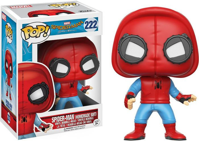 Marvel - POP! Bobble: Spider-Man Homecoming: Spider-Man (Homemade Suit)