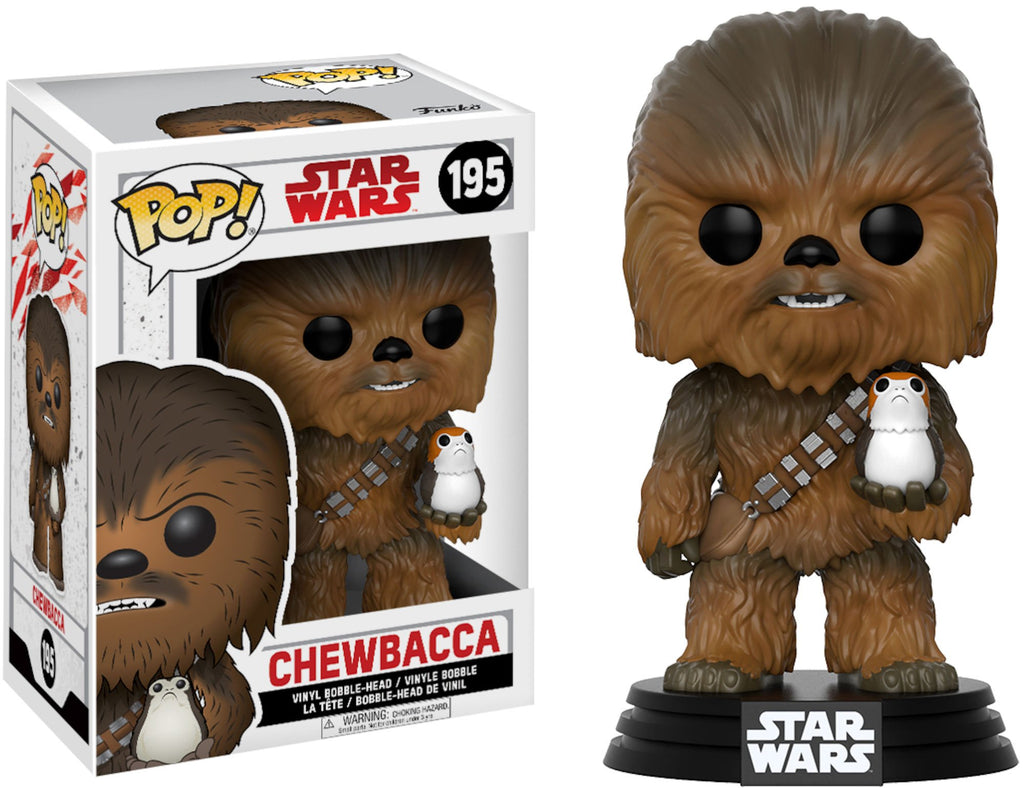 Star Wars - POP! Bobble: E8 TLJ: Chewbacca w/ Porg (POP 7)