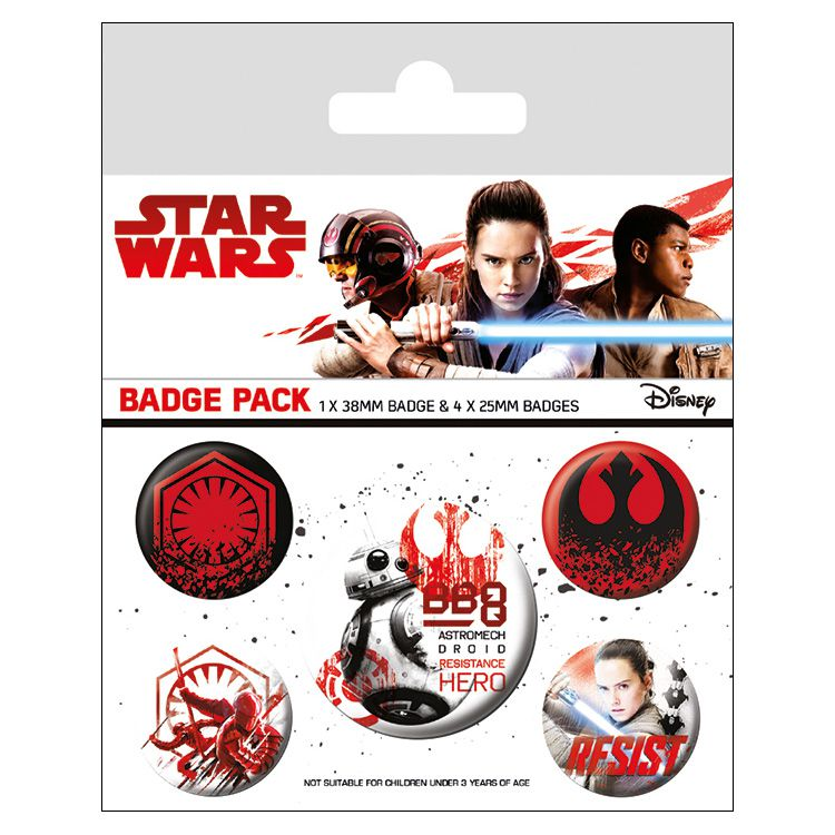 Star Wars - The Last Jedi (Resist) Badges