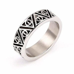 Harry Potter - Deathly Hallows Stainless Steel Ring - Large - Size S