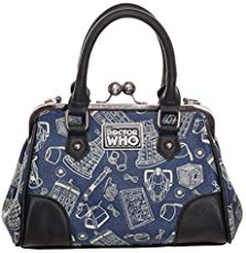 Doctor Who - Scribble Art Kiss Lock Handbag