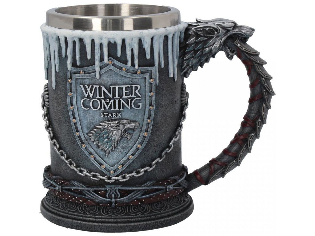 Game of Thrones - House Stark Tankard 16cm Colour Box