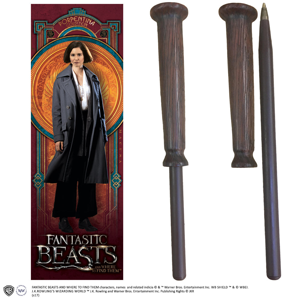 Fantastic Beasts - Porpentina Goldstein Wand Pen and Bookmark