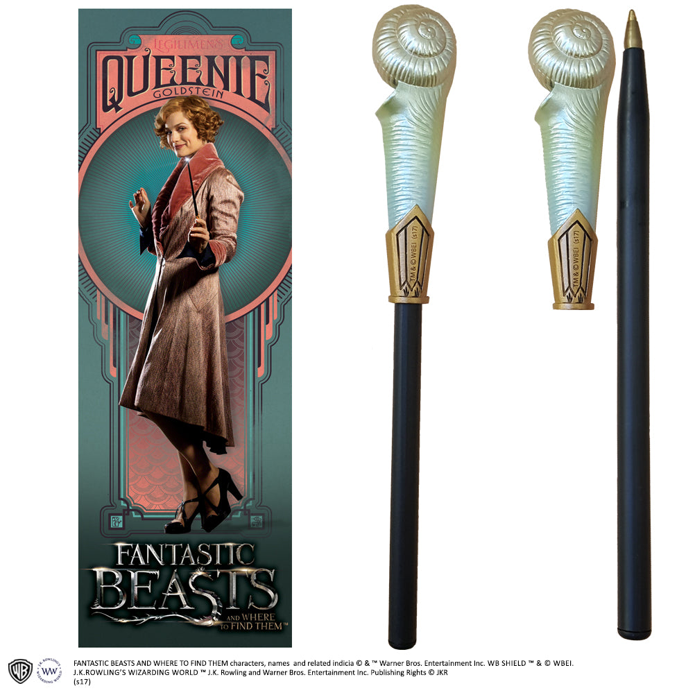 Fantastic Beasts - Queenie Goldstein Wand Pen and Bookmark