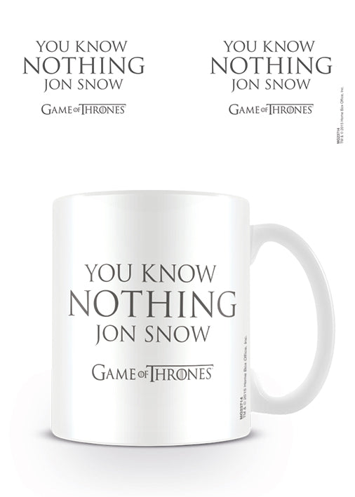 Game of Thrones - (You Know Nothing Jon Snow) Mug