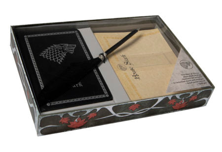 Game of Thrones - Stark Stationery W/Pen