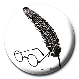 Harry Potter - (Glasses & Feather) Badge
