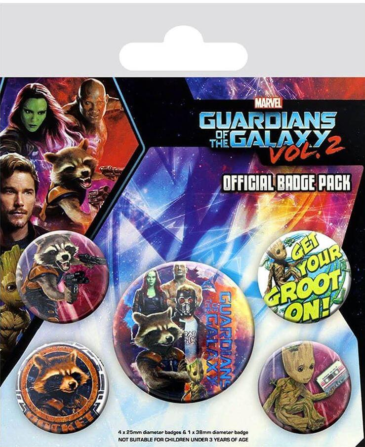 Marvel - Guardians of the Galaxy Vol. 2 (Rocket & Groot) Badge Pack