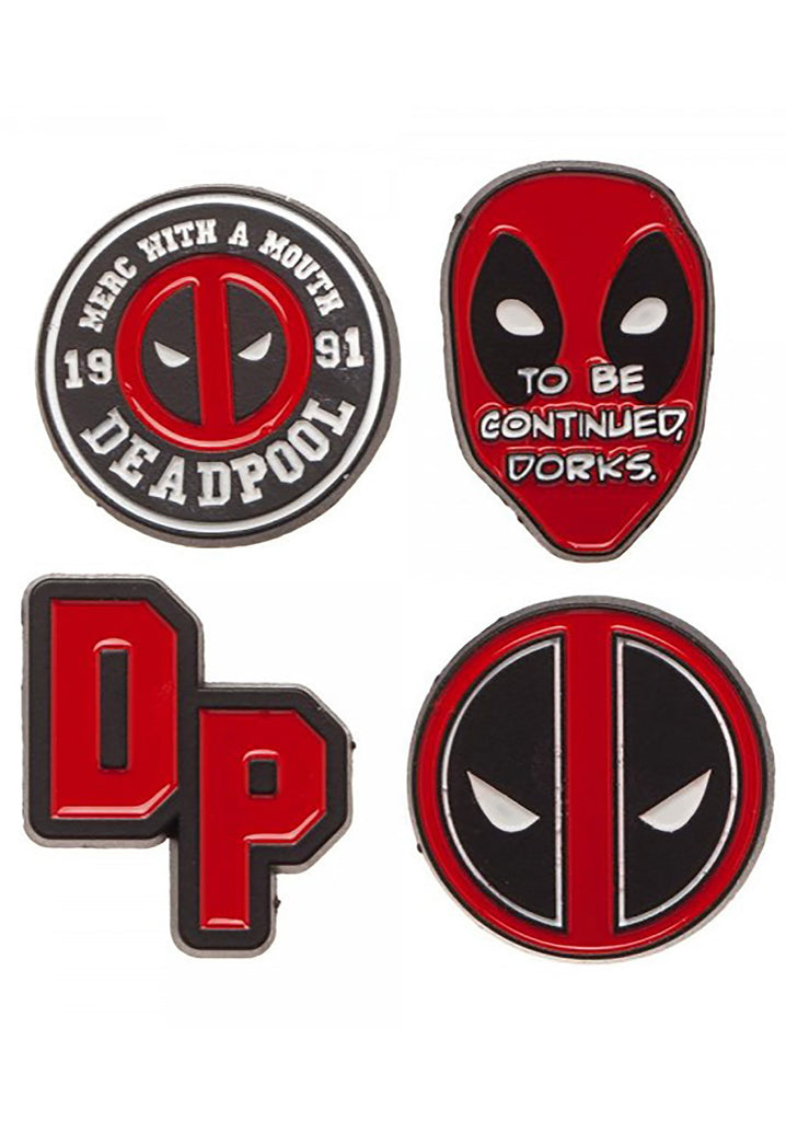 Marvel - Deadpool Logo Marvel Comics Lapel 4 Pin Set