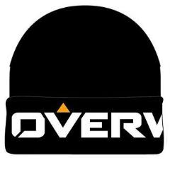 Overwatch - Beanie Cuff Black Knit Logo