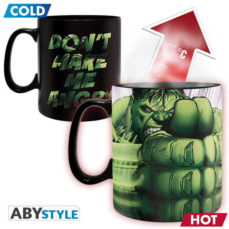 Marvel - Mug Heat Change - 460 ml - HULK SMASH - with box