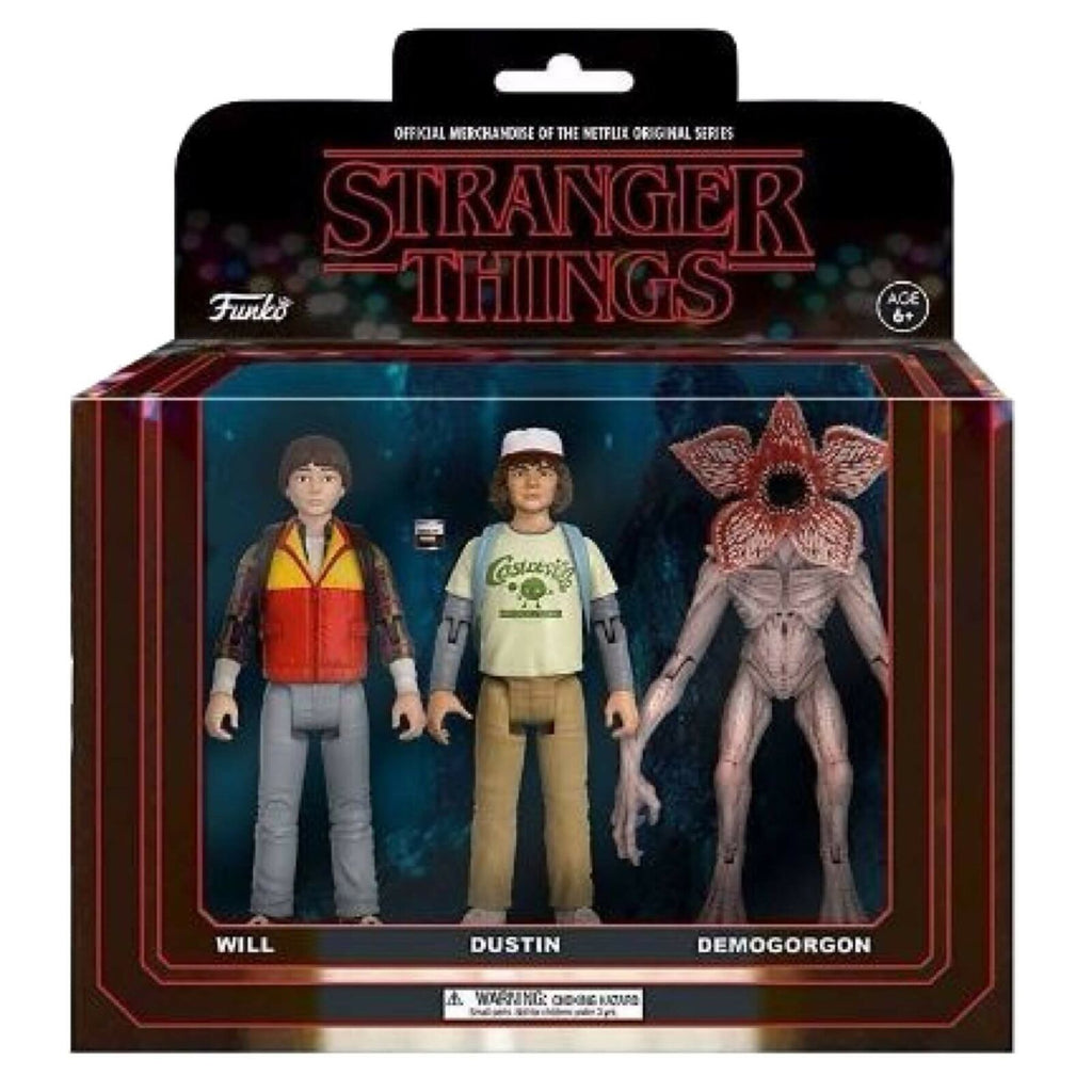 Stranger Things - Action Figure: 3-Pack: Will, Dustin, Demogorgon