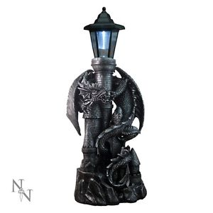 Dragon Castle with Lantern (solar) 53cm
