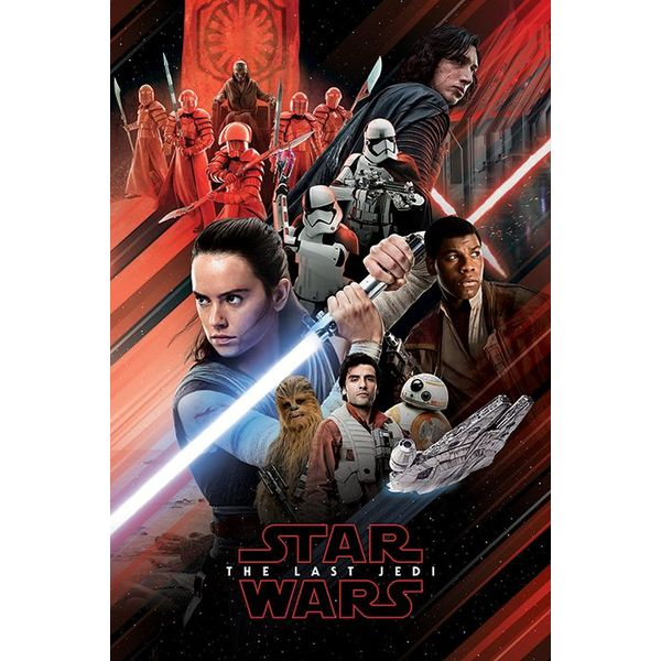 Star Wars - The Last Jedi (Red Montage) Poster