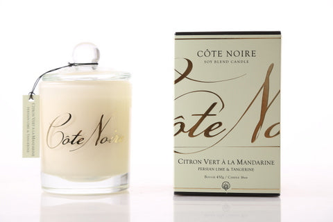 Côte Noire 450g Soy Blend Candle - Persian Lime and Tangerine