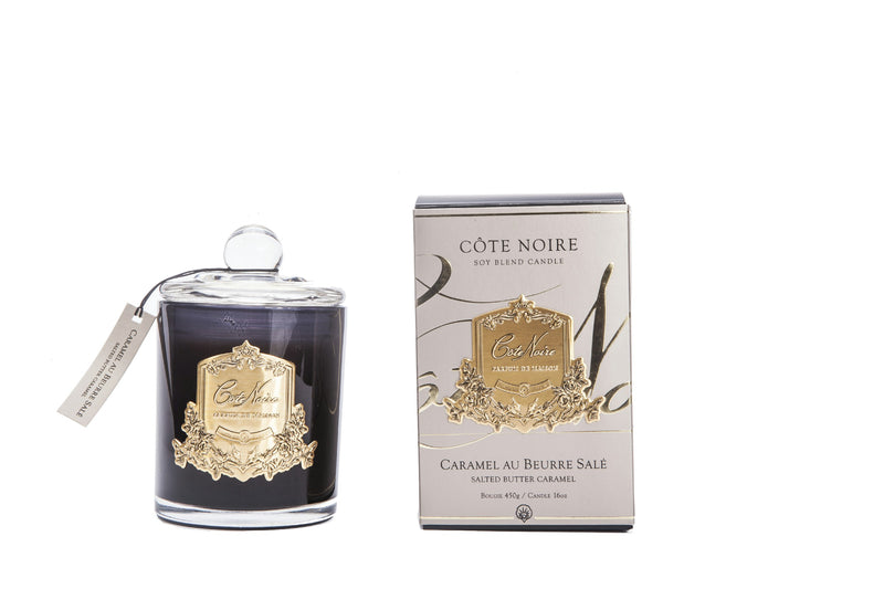 Côte Noire 450g Soy Blend Candle - Salted Butter Caramel - Gold - GMC45002