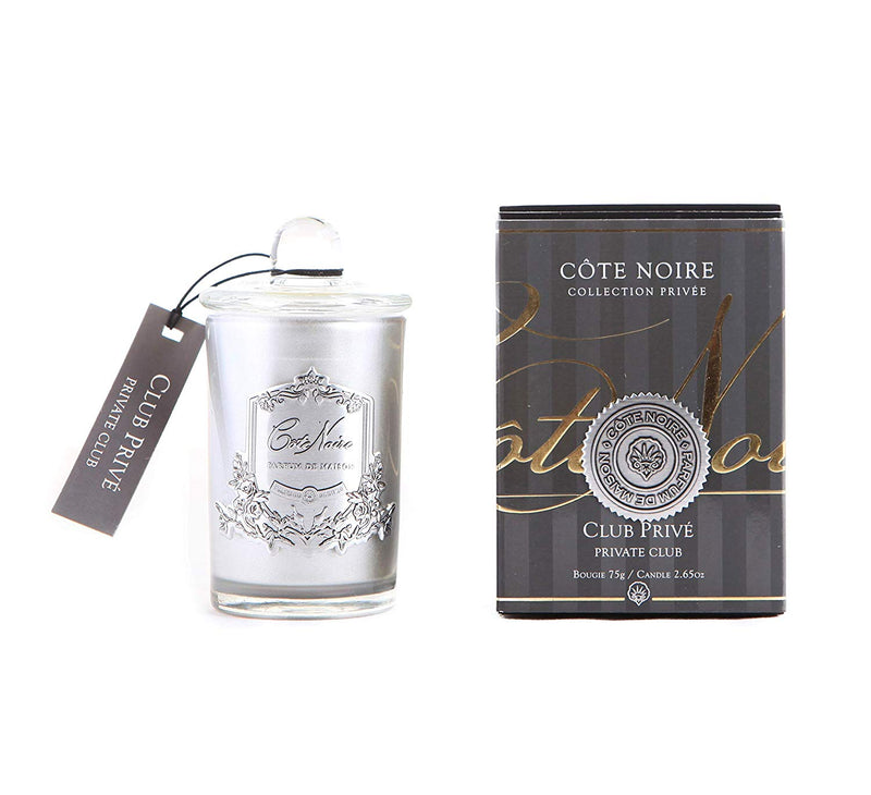 Côte Noire 75g Soy Blend Candle - Private Club Silver - GMS07525