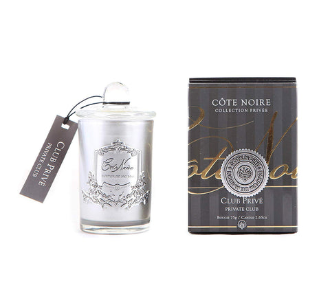 Côte Noire 75g Soy Blend Candle - Private Club Silver